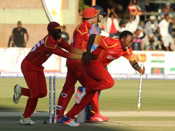 First T20I, Zimbabwe beat India