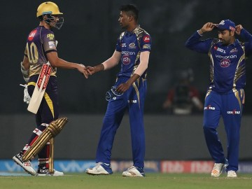 54th match: Hardik Pandya's four-over spell made the telling difference in what was an unpredictable and close contest at the Eden Gardens