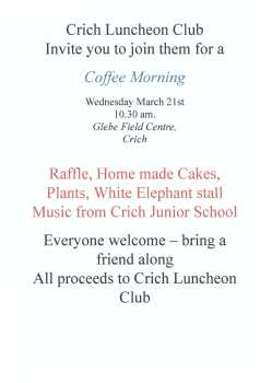 Luncheon Club Coffee Morning