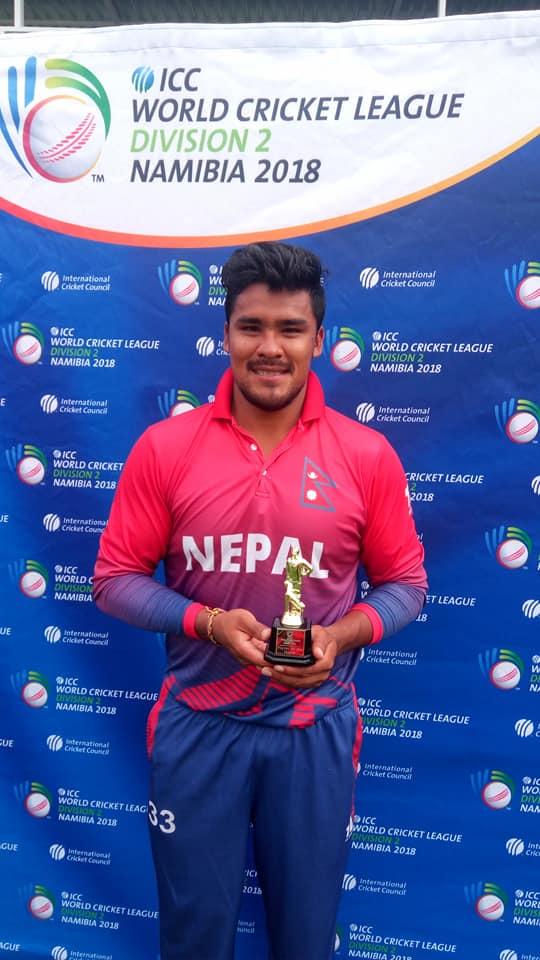 Karan KC powers Nepal to the World Cup Qualifier