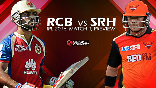 Royal Challengers Bangalore (RCB) vs Sunrisers Hyderabad ...