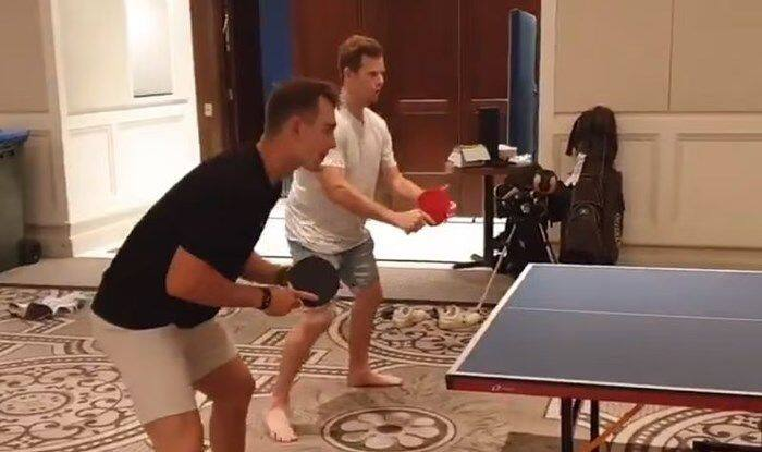 Ind vs Aus 2020: Steve Smith, Marnus Labuschagne Are Doubles Partner as They Play Table-Tennis in Bio-Security Bubble | WATCH