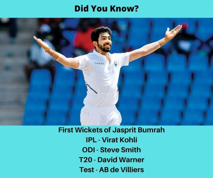 First Wickets of Jasprit Bumrah I Cricket Fact No 5 I