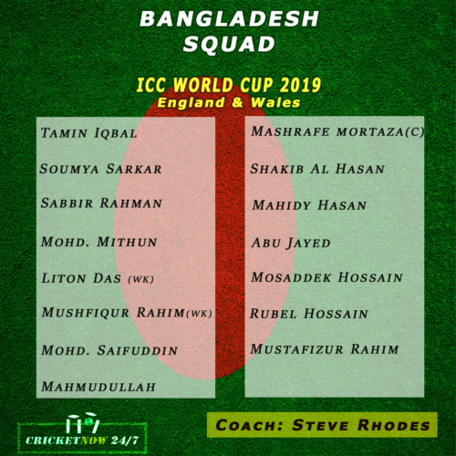 final squads for icc world cup 2019 of all teams with stats cricket now 24 7