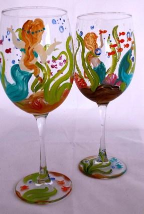 Mermaid Wine Glasses