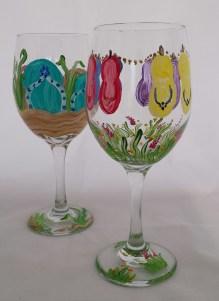 Flip Flop Wine Glasses