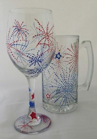 Forth of July Wine & Beer Mug