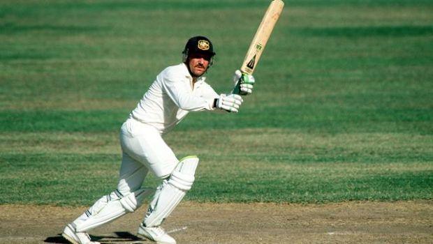 Sport, Cricket, pic: March 1991, 1st Test Match, at Sabina Park, Jamaica, West Indies v Australia, Allan Border, Australia