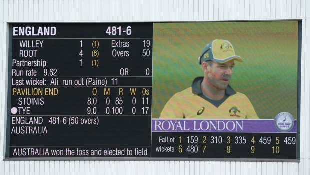 England v Australia ODI scoreboard