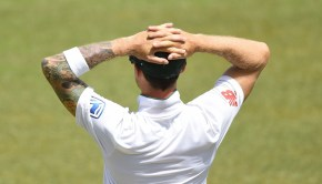 South African cricketer Dale Steyn looks on during the third day of the second Test match between Sri Lanka and South Africa