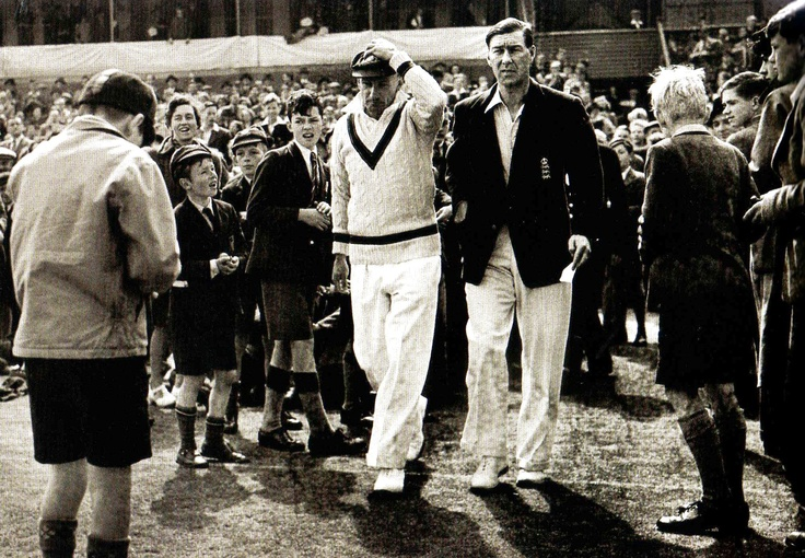 Sir Don Bradman and Norman Yardley