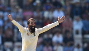 England's Moeen Ali makes an unsuccessful appeal