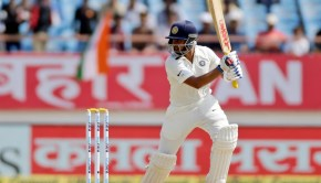 India's cricketer bats Prithvi Shaw