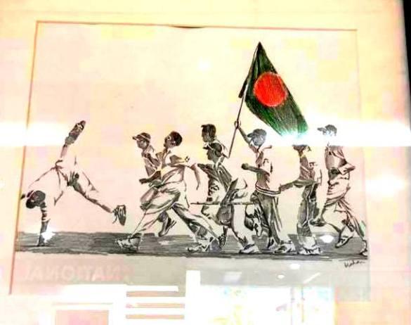 Artwork of Sylhet International Cricket Stadium