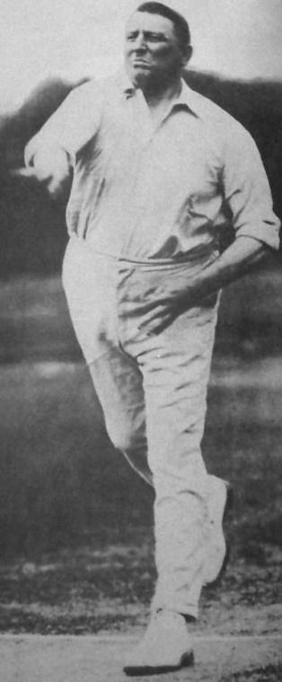 Warwick Armstrong bowling. Image Courtesy: Wikipedia