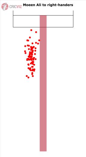 The bowling map of Moeen Ali. Image courtesy: CricViz (Ben Jones)