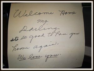 Welcome home sign 2