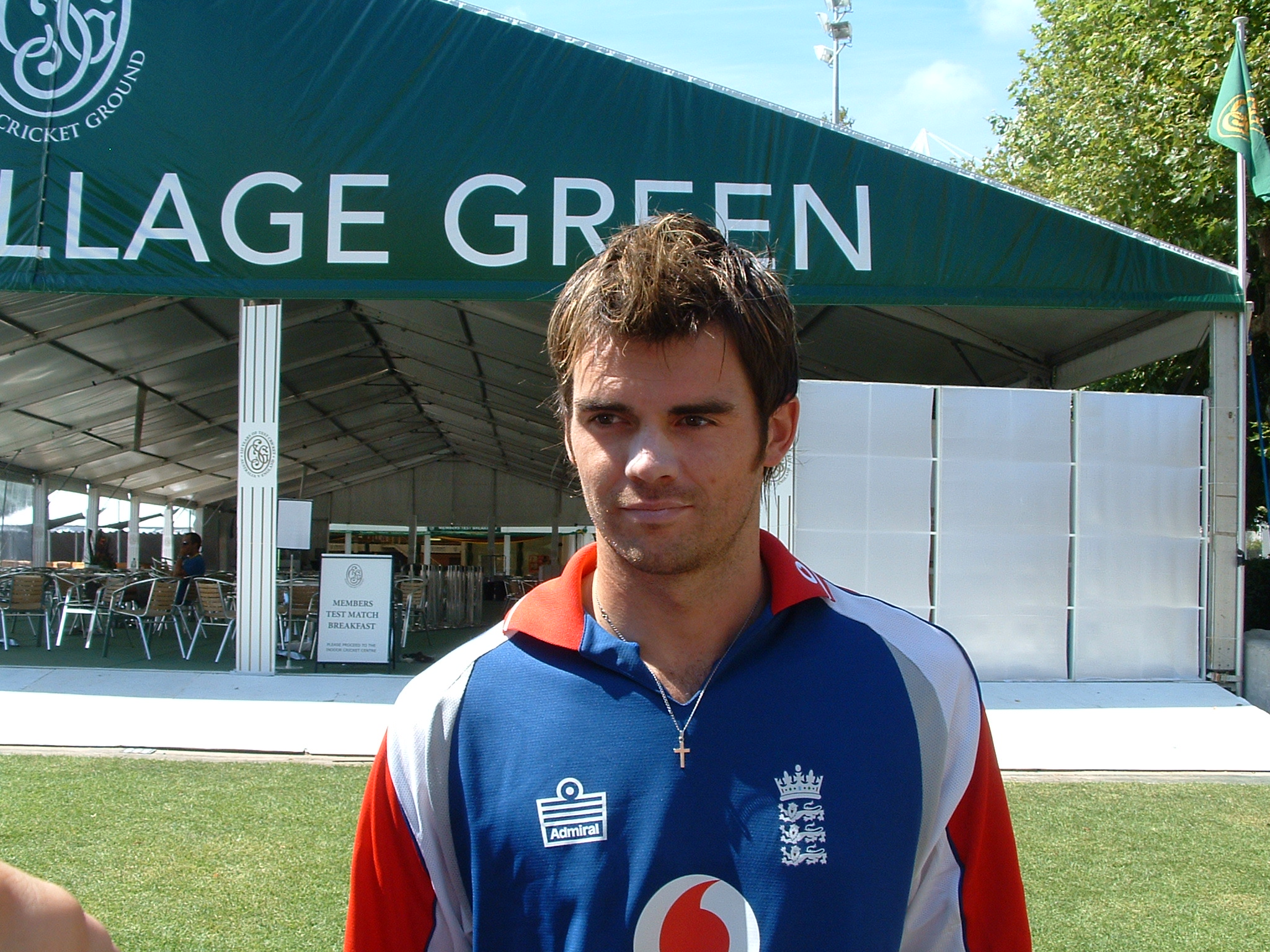 Where was James Anderson?