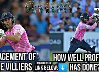 How well Mohammad Hafeez replaced AB de Villiers in Middlesex?
