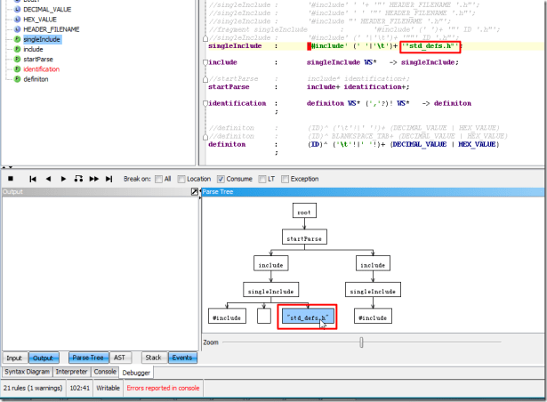 can recognize the specific header file with double quote