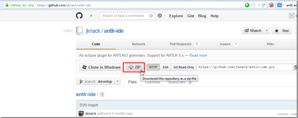 An eclipse plugin for ANTLRv3 grammars