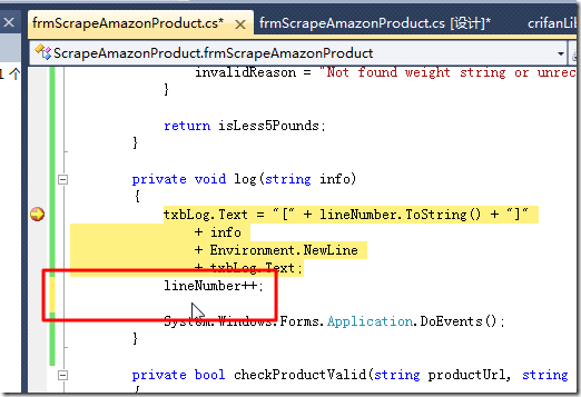 edit code while debuging