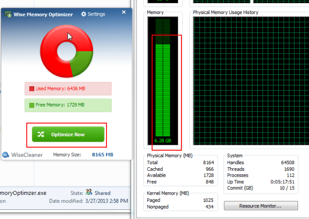 before is 6.28G for wise memory optimizer