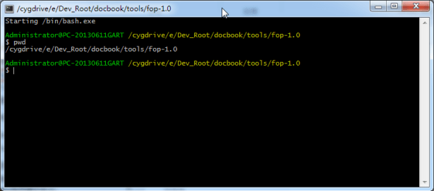 get current cygwin path for fop