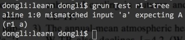 grun test r1 tree but error