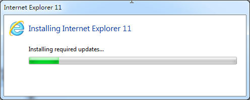 install required updates for ie11