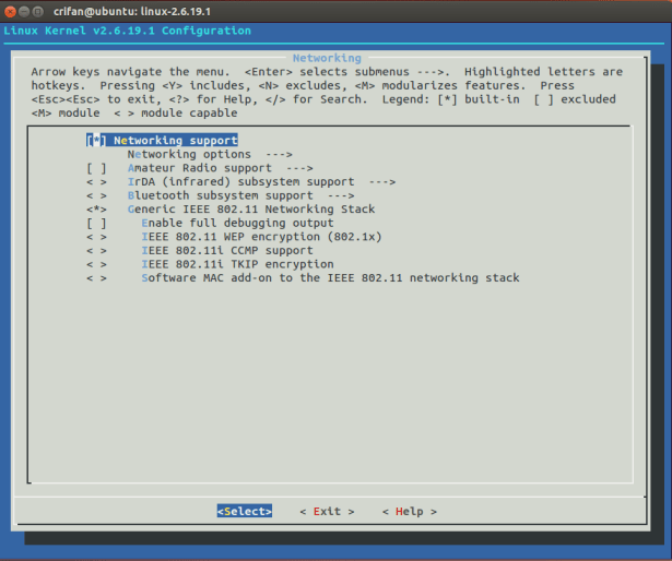 Networking config