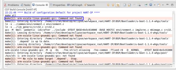 arm-xscale-linux-gnueabi-gcc Command not found