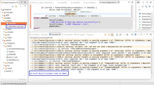 build wbm ok generate file