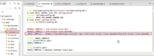 uboot set to full path no suffix gcc