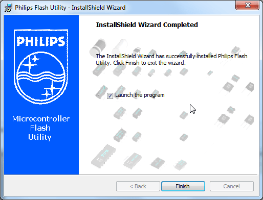 philips flash utility install completed