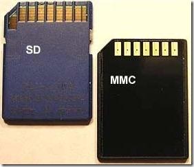 real sd vs mmc card