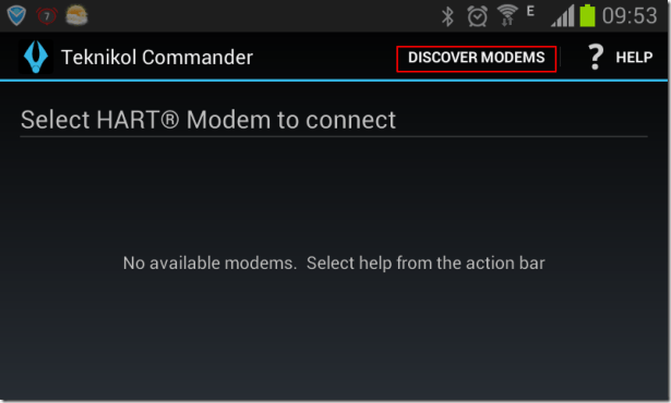 show discover modems button in apk