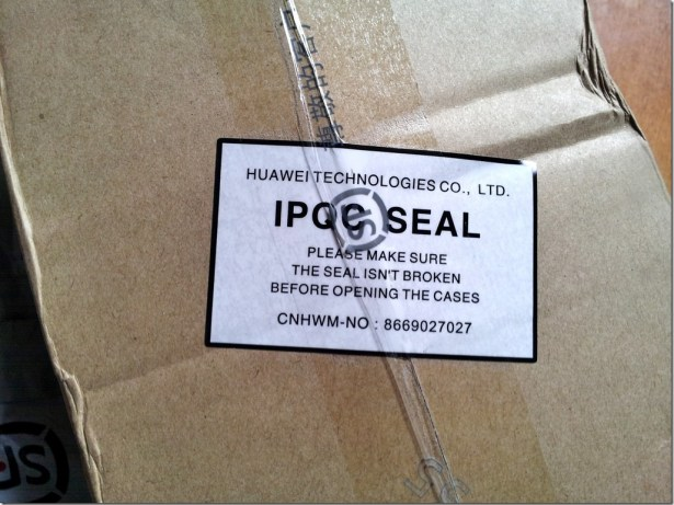 huawei technologies co ltd ipoc seal please makesure the seal isnt broken before opening the cases cnhwm-no