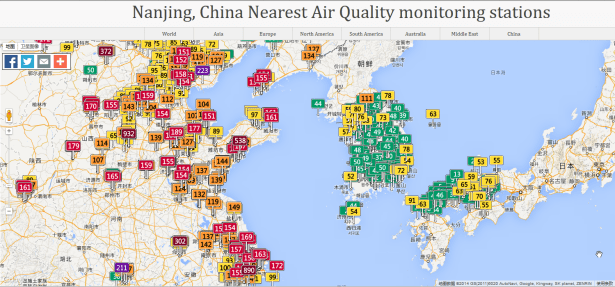 air quality for nanjing china nearest monitoring stations for china korea and japan