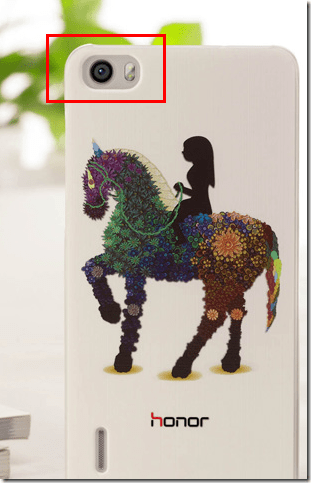 huawei honor 3c phone shell horse little girl outside some
