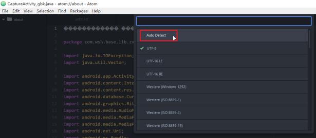 click auto detect for atom gbk