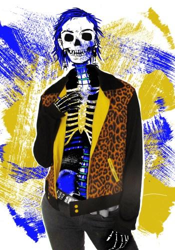 leopard denim jacket
