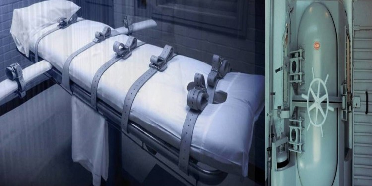 Lethal injection gurney and gas chamber