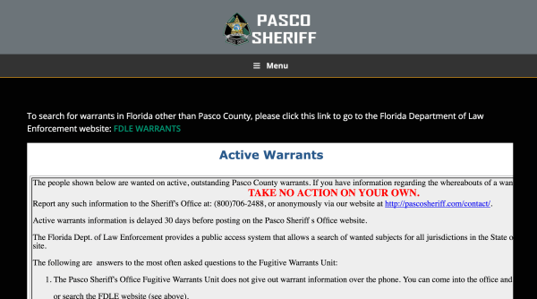 Active Arrest Warrants Search - Year of Clean Water