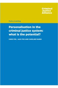 Personalisation in the CJS cover page