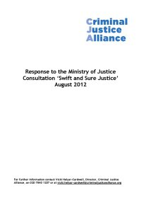 Swift and Sure Justice cover page