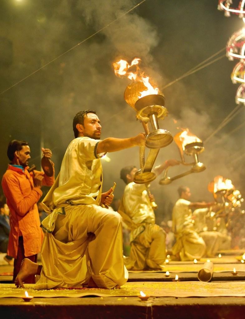 aarti ceremony varanasi image by pixabay