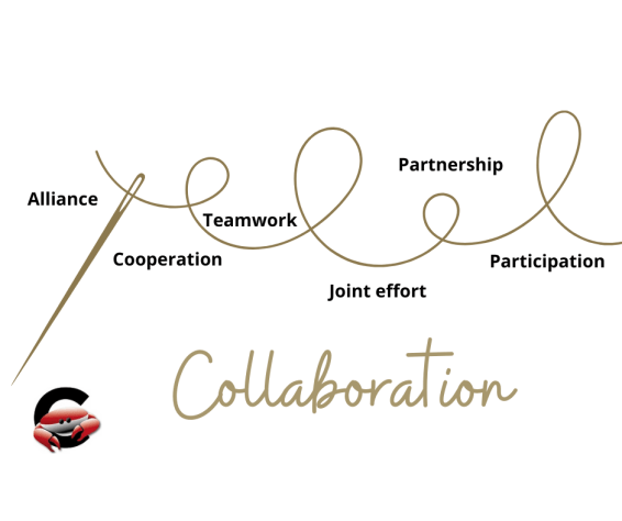 The golden thread of collaboration.