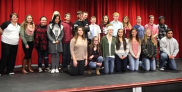The 28 contestants of the 2016 PRHS Poetry Out Loud competition