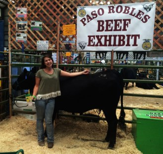 Dakota Rodriguez placed second in her breeding class with her replacement heifer Margeux.